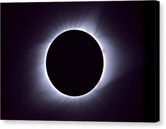 Solar Eclipse Canvas Print - Spectacular Corona by Tom Bartol