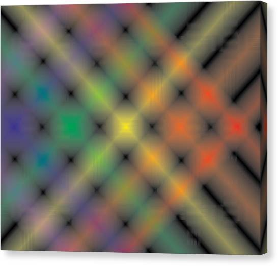 Spectral Shimmer Weave Canvas Print