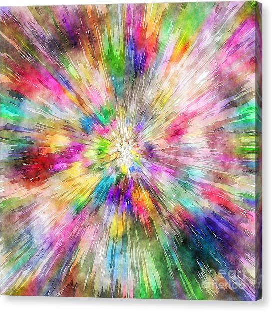 Spectral Tie Dye Starburst Canvas Print