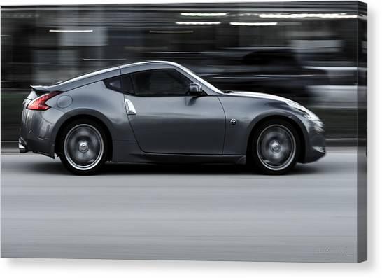 Nissan Z Canvas Print   Speed By Antonio Hernandez