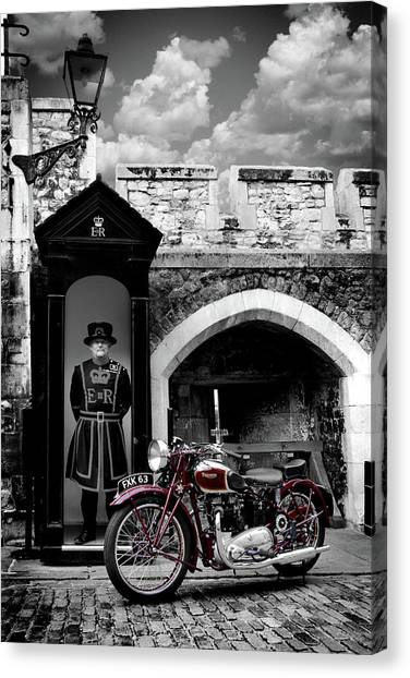 Tower Of London Canvas Print - Speed Twin At The Tower by Mark Rogan