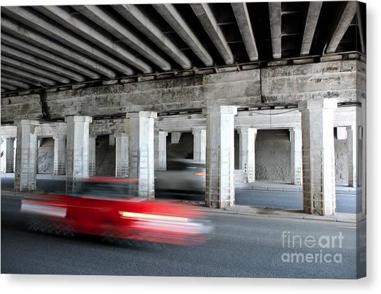 Speeding Car Canvas Print
