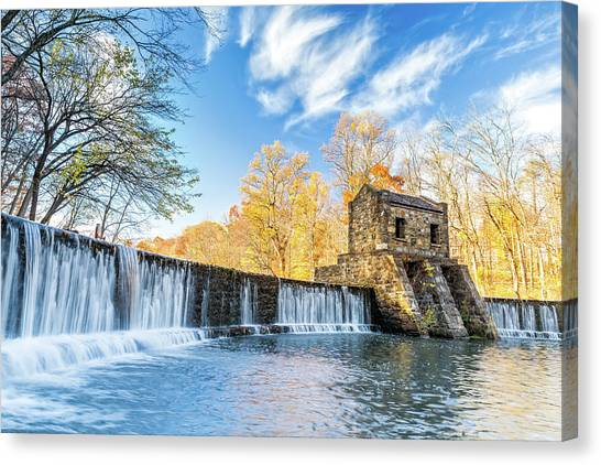 Speedwell Dam Waterfall Canvas Print
