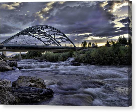 Speer Blvd Bridge Canvas Print