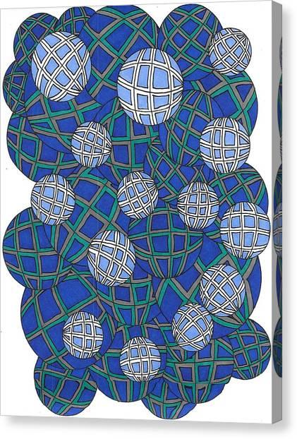 Spheres In Blue Canvas Print