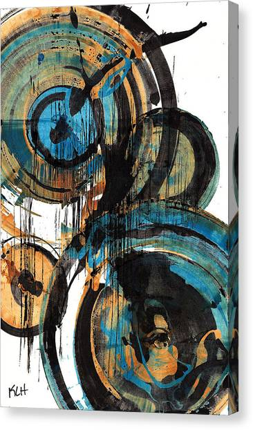 Abstract Expressionism Canvas Print - Spherical Joy Series 88.042211 by Kris Haas