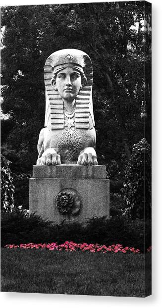 Sphinx In New England Canvas Print by Brigid Nelson