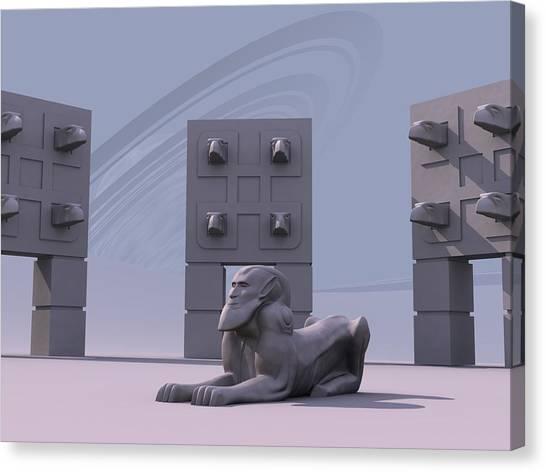 Sphinx Canvas Print by Mariusz Loszakiewicz