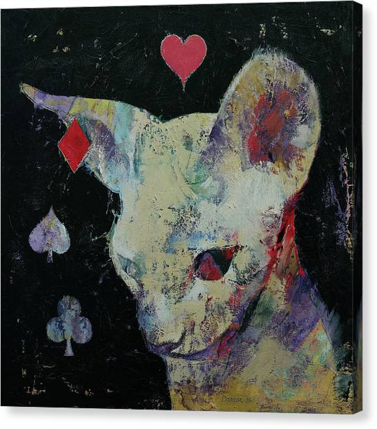 Sphynx Cats Canvas Print - Sphynx Cat Lover by Michael Creese