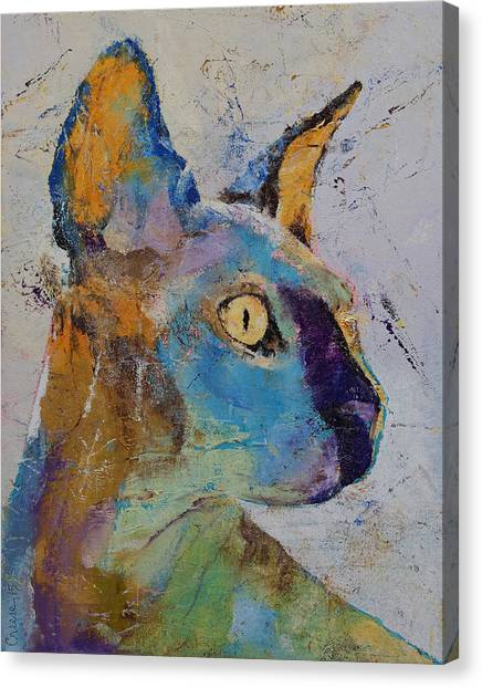 Sphynx Cats Canvas Print - Sphynx Cat by Michael Creese