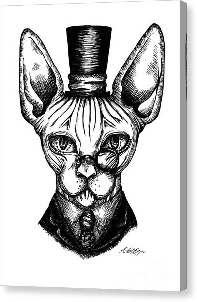 Sphynx Gentleman Canvas Print