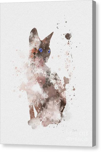Sphynx Cats Canvas Print - Sphynx by Rebecca Jenkins