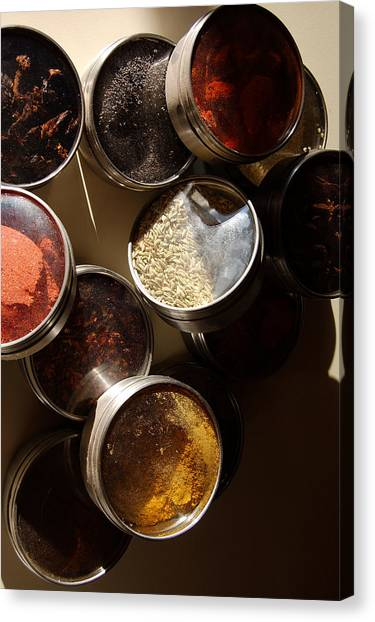Spices Canvas Print by Heather S Huston