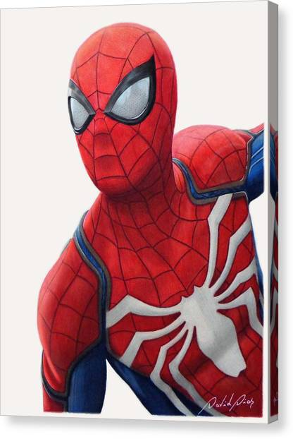Playstation Canvas Print - Spider-man - Ps4 Game by David Dias