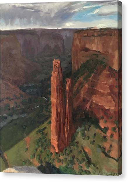 Spider Rock, Canyon De Chelly Canvas Print