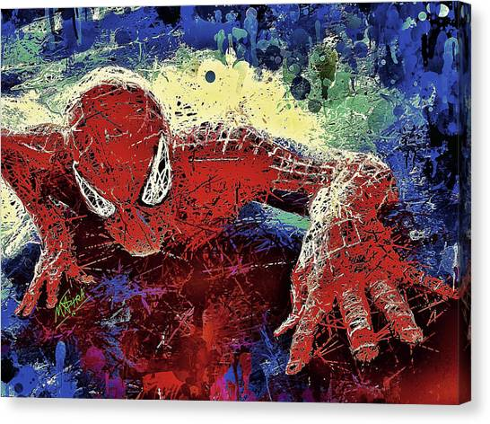 Spiderman Climbing  Canvas Print