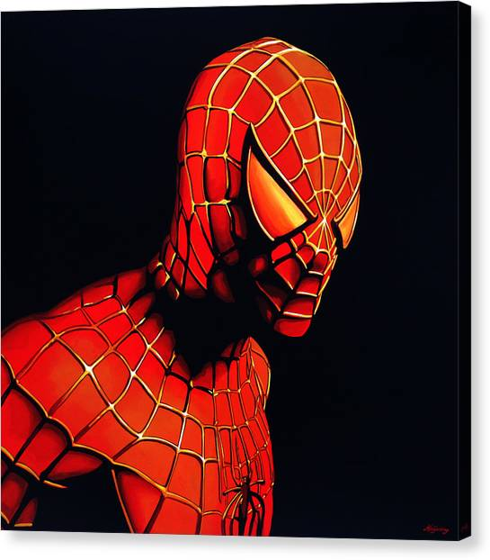 Men Canvas Print - Spiderman by Paul Meijering