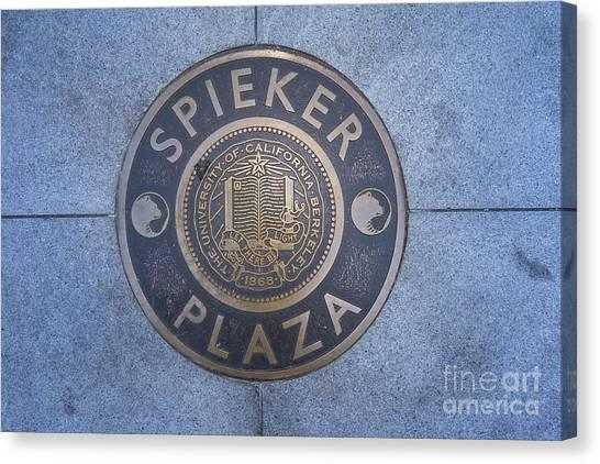 Spieker Plaza Monument At University Of California Berkeley Dsc6305 Canvas Print
