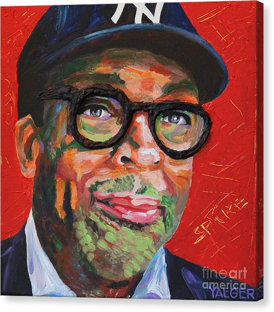 New York Knicks Canvas Print - Spike Lee Portrait by Robert Yaeger