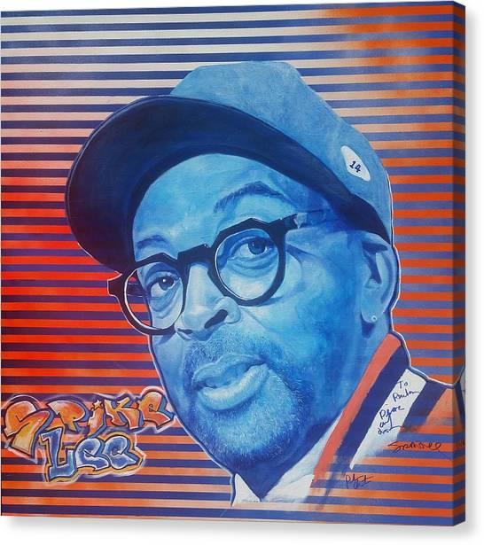 New York Knicks Canvas Print - Spike Lee by Reuben Cheatem