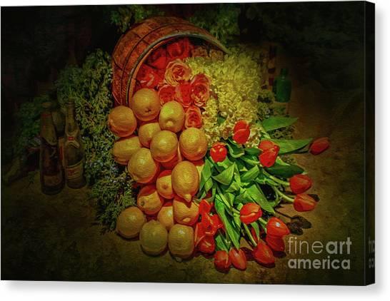 Spilled Barrel Bouquet Canvas Print