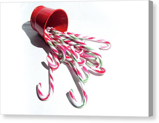 Spilled Candy Canes Canvas Print