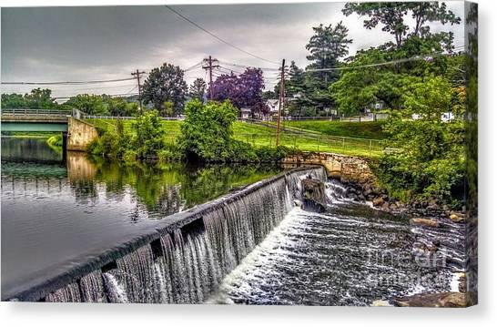 Spillway At Grace Lord Park, Boonton Nj Canvas Print
