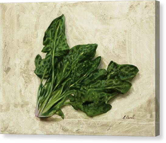 Spinach Canvas Print - Spinaci by Guido Borelli