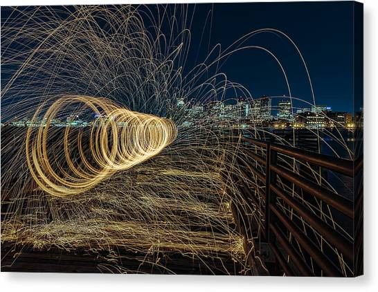 Spinning Sparks Canvas Print