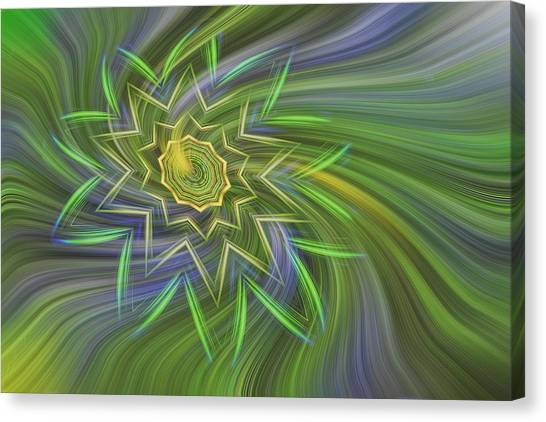 Spinning Star Canvas Print by Linda Phelps