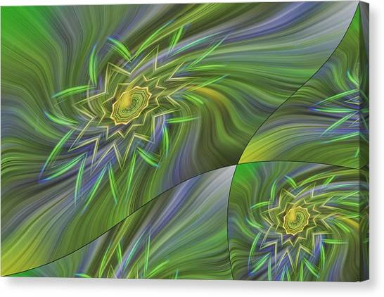Spinning Star Tiles Canvas Print by Linda Phelps