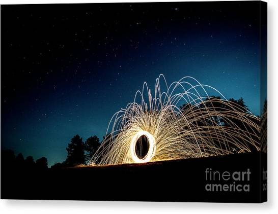 Spinning Wool Canvas Print