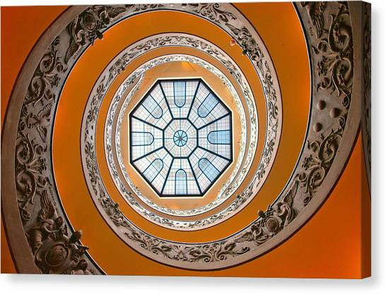 The Vatican Museum Canvas Print - Spiral by Brian Bonham