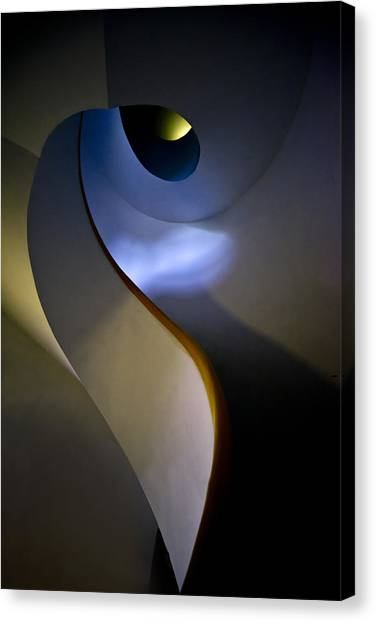 Spiral Concrete Modern Staircase Canvas Print