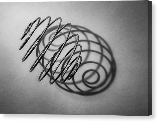 Black Top Canvas Print - Spiral Shape And Form by Scott Norris