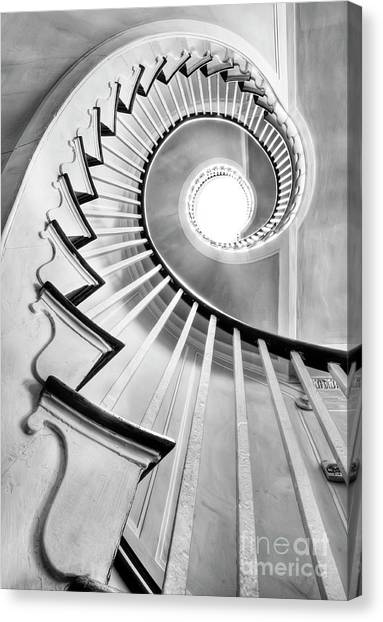 Spiral Canvas Print - Spiral Staircase Lowndes Grove  by Dustin K Ryan