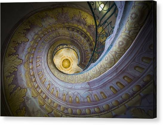 Spiral Staircase Melk Abbey I Canvas Print