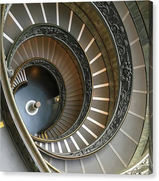 The Vatican Museum Canvas Print - Spiral Staircase by Christine Chin-Fook