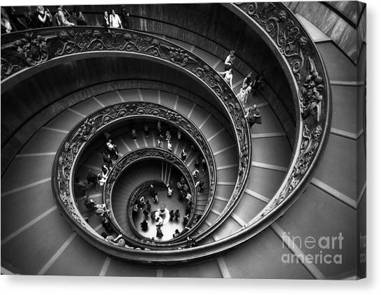 The Vatican Museum Canvas Print - Spiral Stairs Horizontal by Stefano Senise
