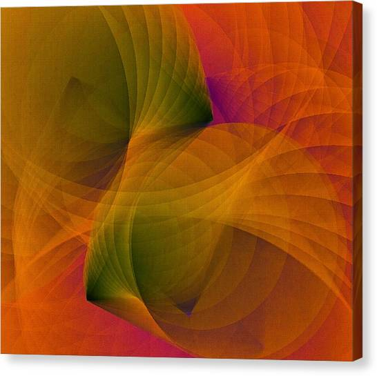 Canvas Print featuring the digital art Spiraling Insight With Complicated Continuation by Susan Maxwell Schmidt