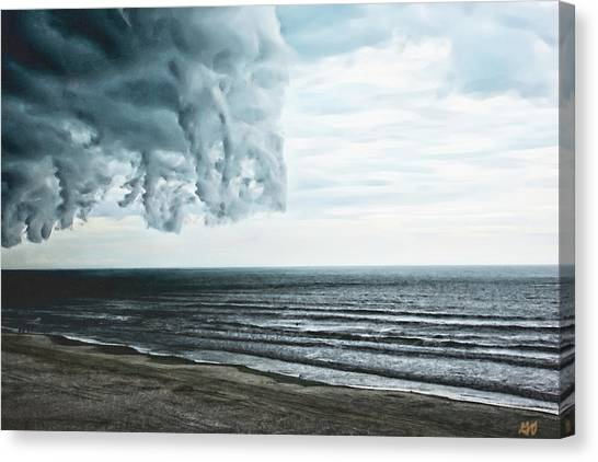 Spiraling Storm Clouds Over Daytona Beach, Florida Canvas Print