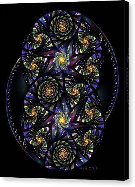 Spirals Of The Night Canvas Print