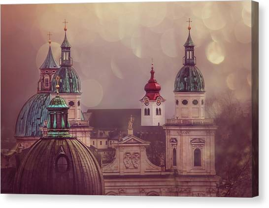 Baroque Art Canvas Print - Spires Of Salzburg  by Carol Japp