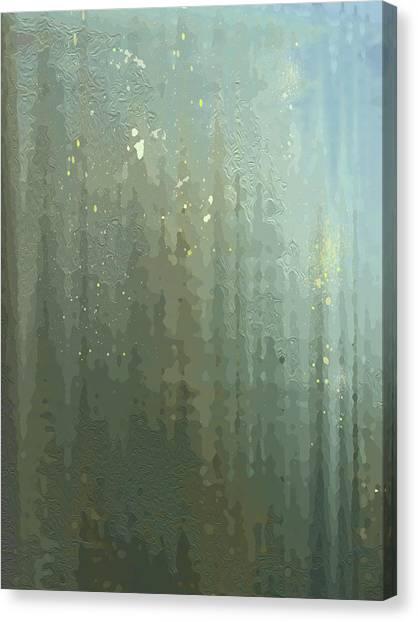 Spires Through A Window Canvas Print