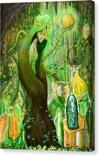Fantasy Cave Canvas Print - Spirit And Energy by Adela Silvan