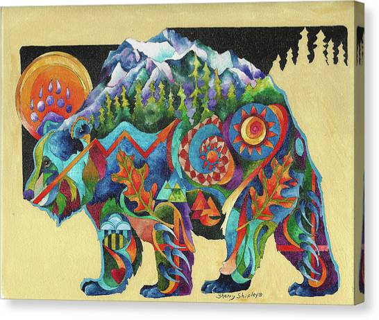 Spirit Bear Totem Canvas Print