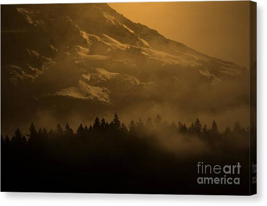 Hindu Kush Canvas Print - Spirit Of Chief Seattle by C E Dyer