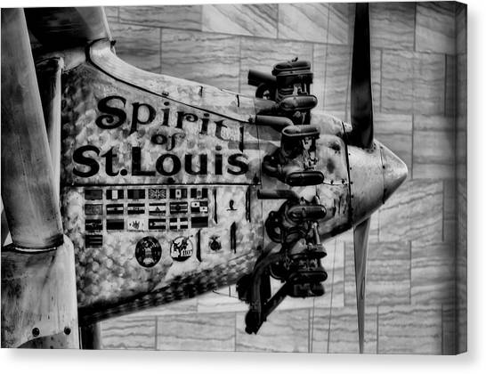Smithsonian Institute Canvas Print - Spirit Of St Louis by Mountain Dreams