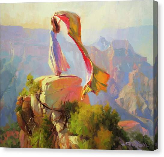 Canyon Canvas Print - Spirit Of The Canyon by Steve Henderson