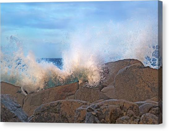 Tumbling Canvas Print - Spirit Of The Coast Ireland by Betsy Knapp